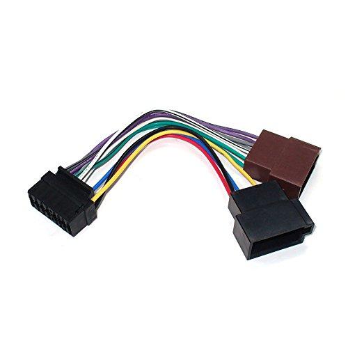 maxxcount autoradio kabel radio adapter stekker DIN ISO voor JVC 16 pin radio