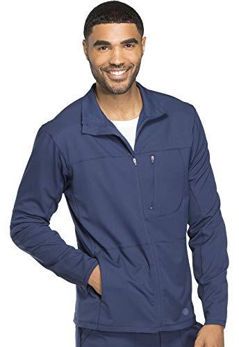 Dickies Dynamix Men's Men's Zip Front Warm-up Jacket, DK310, L, Navy