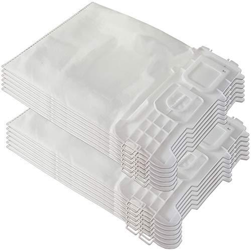Set 12 Mikrovlies Staubsaugerbeutel geeignet für Vorwerk Kobold 135, 136, 135 SC, VK 135, VK 136, VK135, VK136, FP135, FP136 - mit Hygieneverschluss - Vlies