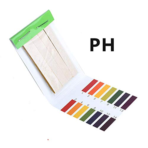 NO LOGO ZZB-PH, PH Tester Papier Full Range 1-14 80 PH-Streifen Wasseruntersuchung PH Lackmus Health Care Papier Wasser Soilsting Kit (Color : 01)