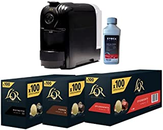 L'OR Professional Pack Pro Machine à Café Lucente Pro + 300 Capsules Aluminium compatibles Nespresso Splendente/Forza/Rist...