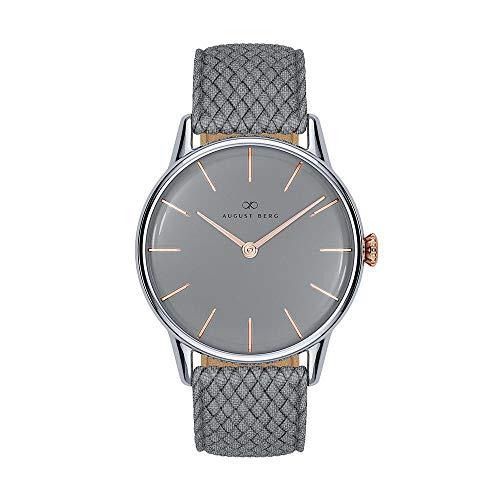 AUGUST BERG Uhr Serenity Nordic Granite Grey Perlon 32mm