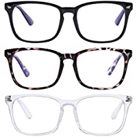 3-Pieces AIMADE Unisex Blue Light Blocking Glasses Blue Filter Computer Glasses