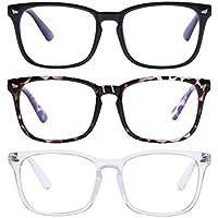 3-Pieces AIMADE Unisex Blue Light Blocking Blue Filter Computer Glasses