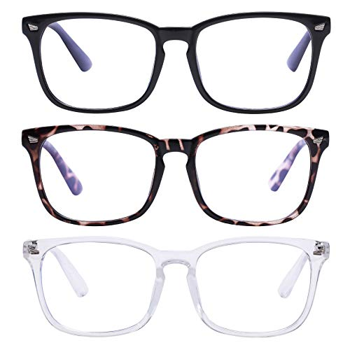 [Amazon] 50% off 3-Pack Blue Light Blocking Glasses Anti Eyestrain Computer Gaming Glasses $8.49