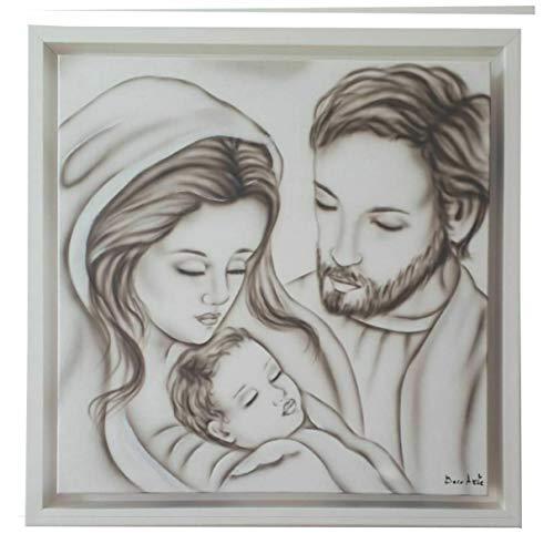 nn Deco Arte Cuadro Sagrado Cabeza 45 x 45 cm Sagrada Familia Moderno Shabby Chic