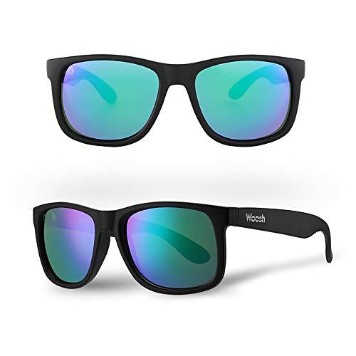 WOOSH Polarized Lightweight Sunglasses for Men and Women - Green Lens...