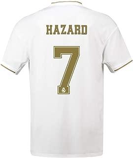 19-20 Season Real Madrid Home Football Jersey #7 Hazard Soccer Jerseys Soccer Shirt Uniform