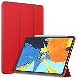 JETech Custodia Compatibile iPad PRO 11 Pollici Modello 2018 (Non per Il Modello 2020), Compatibile con Apple Pencil, Cover con Auto Svegliati/Sonno, Rosso