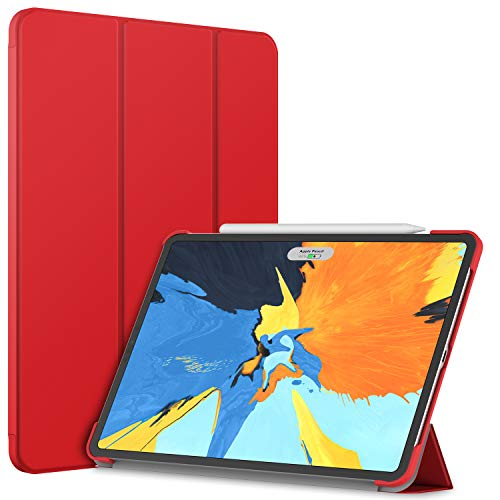 JETech Case for Apple iPad Pro 11-Inch 2018 Model (NOT for 2020 Model), Compatible with Apple Pencil, Cover Auto Wake/Sleep, Red