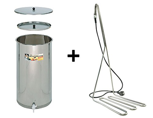 Speidel Edelstahl-Saftfass Edelstahlfass, 110 Liter Süßmostfass mit Tauchsieder