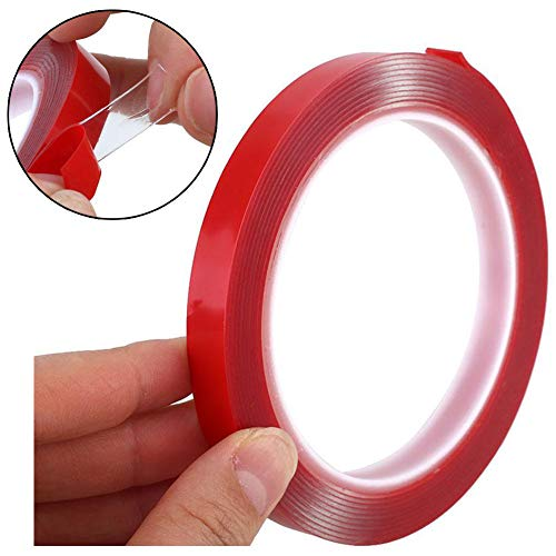 33ft Clear Mounting Tape - Acrylic Adhesive Double Sided Adhesive Foam Tape 10m X 10mm Weatherproof Heavy Duty Glue, Heat Resistant Perfect for LED Light Strip Channel,Auto,Household,and More