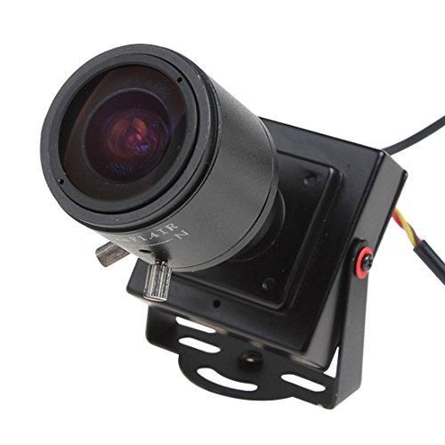 ePathChina Mini telecamera spia nascosta, PAL 2.8–12mm manuale, obiettivo 600TVL 1/3CMOS HD Sensor DC 12V, color CCTV, visione notturna, supporto IR telecamera di sorveglianza, video e audio output