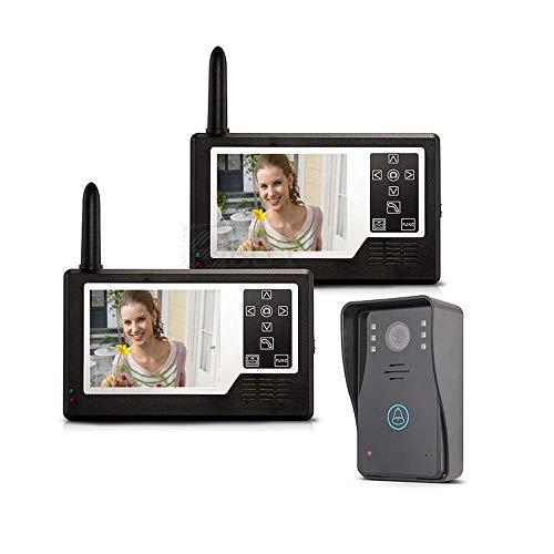 TQ Timbre de Video 3.5, Videoportero inalámbrico, Desbloqueo Remoto, 2 monitores, Batería de Litio, Timbre de visión Nocturna, para la Familia/Villa
