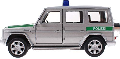 Modellauto Auto Fertigmodell Mercedes Benz G   Polizei-Auto oder Feuerwehr-Auto freiwählbar     Maßstab 1:34   Geschen Idee Kinder Sammler Polizist Feuerwehrmann (Polizeiauto)