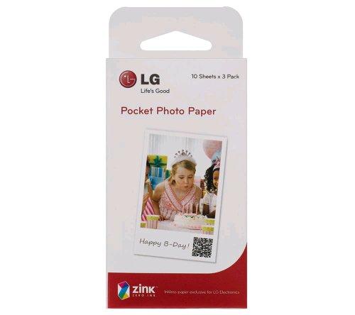 LG Photopapier PS2203 fr Pocket Photo PD233 (30Stk.)