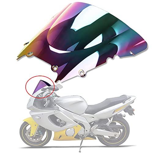 psler Windscreen Windshield Double Bubble for Yamaha YZF 600 R6 1999 2000 2001 2002 (Iridium)