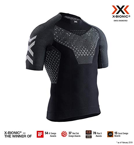 X-Bionic Twyce 4.0 Run Shirt Short Sleeve Men, Uomo, Opal Black/Arctic White, L
