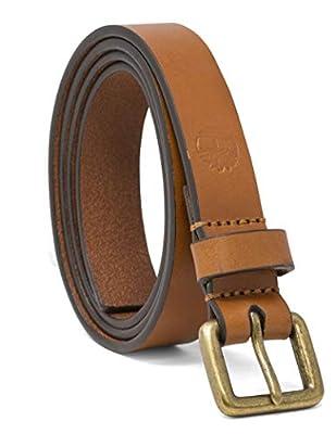 Timberland Women's Casual Leather Belt, Wheatgrass, Large (33-37)