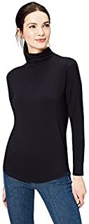Amazon Brand - Daily Ritual Women's Jersey Long-Sleeve Funnel-Neck Shirt