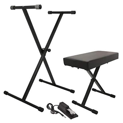 On Stage Stands – Atril de teclado/banco Pak con ksp100 Sustain Pedal