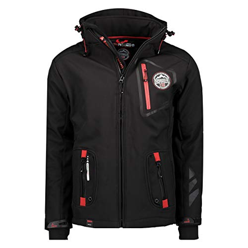 Geographical Norway TACEBOOK MEN - Chaqueta Softshell Impermeable Hombre - Capucha Transpirable...