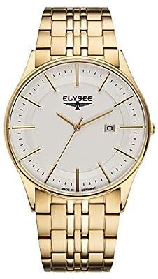 Sencillo de reloj de pulsera de hombre | Diomedes II de Elysee, cuarzo, reloj de pulsera con marcas de alta calidad de hombre, con pulsera de piel o Milanaise pulsera de ELYSEE
