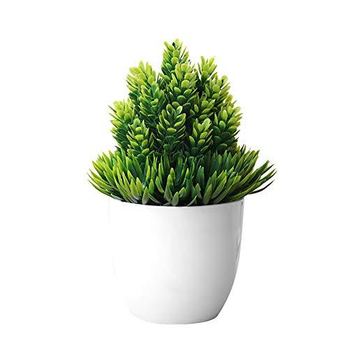 LPxdywlk Aguja De Pino Artificial Planta De Simulación De Piña Bola De Hierba En Maceta Bonsai Office Hotel Decoración del Hogar Decoración De Flores Verde