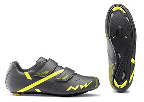 NORTHWAVE Sapatos EST NW Jet 2, Zapatillas Unisex Adulto, Grey Yellow, 39 EU