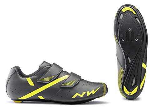 NORTHWAVE Sapatos EST NW Jet 2, Zapatillas Unisex Adulto, Grey/Yellow, 42 EU