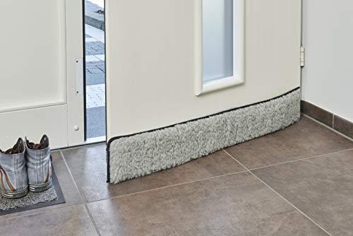 K. & N. Schurwolle 550 Boudin de porte en laine vierge Gris 80 cm