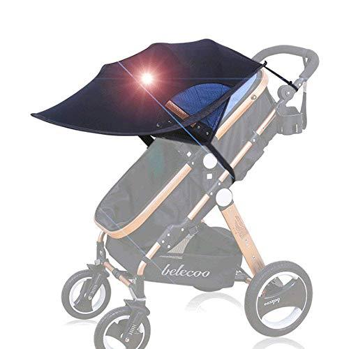 HiCollie Parasol pare-soleil pare-soleil pour poussette et buggy universel