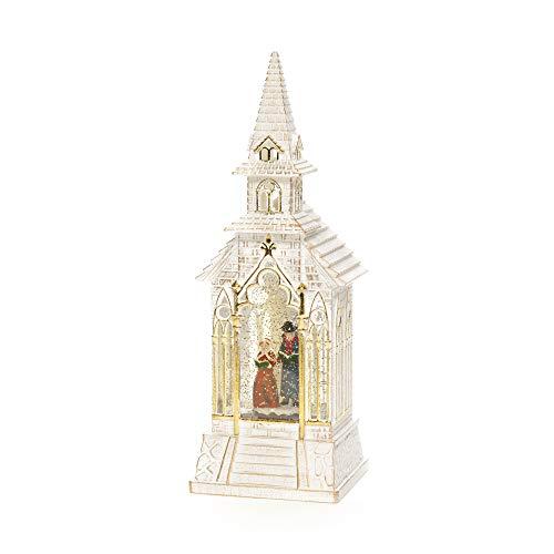 Konstsmide LED Schneekugel Kirche mit Chorszene - Wasserbefüllt/Innen (IP20) / Batteriebetrieben: 3xC 1.5V (ohne/Weihnachtslaterne 1 warmweiße Dioden