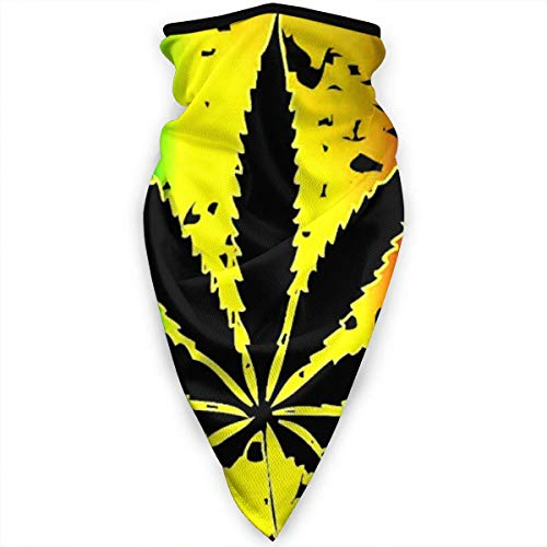 Ruin - Polainas para el cuello con diseño de bandera italiana de cannabis y hojas, cortavientos, para deportes al aire libre