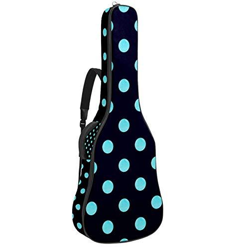 Acoustic Guitar Bag Blue Black Polka Dot Adjustable Shoulder Strap Guitar Case Gig Bag 40 41 42 Inch