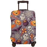 Cubierta Protectora de la Maleta Cute Halloween Pumpkin Vector Pattern Travel Suitcase Protector XL