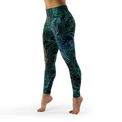 WJunglezhuang Women's Compressie Fitness Yoga Pant Gedrukte Leggings Panty Niet Doorkijkend Stof