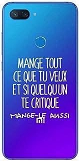ZOKKO Case for Xiaomi Mi 8 Lite Mange Tout Que tu Veux Transparent Soft White Ink