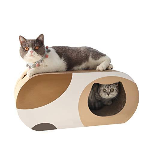 Roomingcare 猫爪とぎ オシャレ 大型 つめとぎ トンネル版猫ハウス 強化ダンボール 掃除便利 サイズ58×25.4×25.4cm
