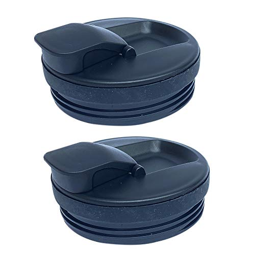 Veterger Replacement Parts Lids,Compatible with Cups for Nutri Ninja Blender Auto iQ BL480 BL482 BL642 NN102 BL682 BL450 BL2013 (2 spout lids)