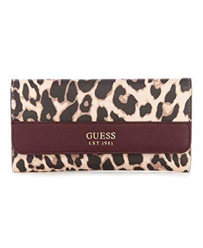 GUESS womens Katey Multi Clutch Wallet, Leopard, One Size US
