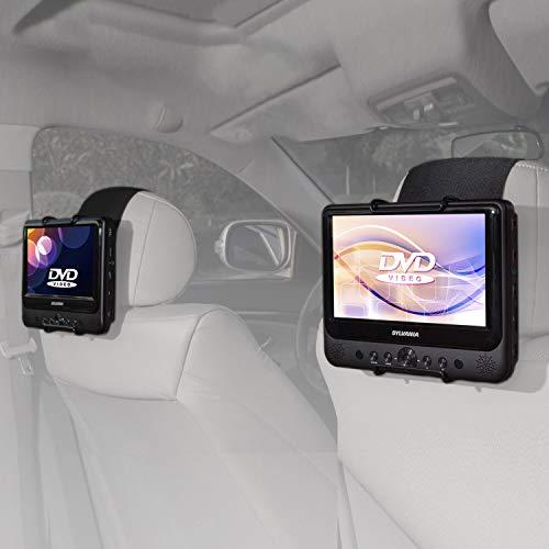 Soporte para reposacabezas de coche de TFY para reproductor de DVD portátil con pantalla giratoria de entre 17,78cm y 25,4cm