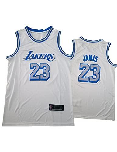 Kfdfns Hombres Jersey 2021 NBA Los Angeles Lakers # 23 Lebron James Camiseta de Baloncesto Sudaderas Chaleco sin Mangas Transpirable Top Informal