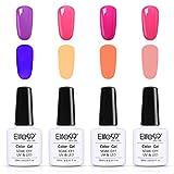 Elite99 Glow in The Dark Gel Nail Polish Set Soak Off UV LED Nail Lacquers Fluorescent Varnish Manicure Nail Art Decoration 10ML (C002)