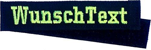 Smart Namensschild MIT KLETT - Bestickt mit eigenem Namen/Text - diverse Farben möglich (150mm) - personalisiert