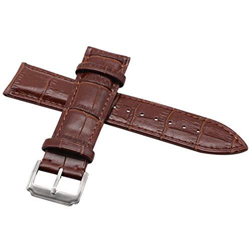 Correa de reloj de piel Autulet de repuesto de 12 a 24 mm, color opcional para reloj de pulsera para hombre y mujer
