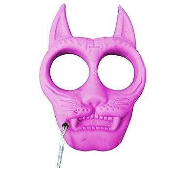 TAKE FANS Porte-clés portable en plastique en forme de tigre - Accessoire de survie pour extérieur (rose)