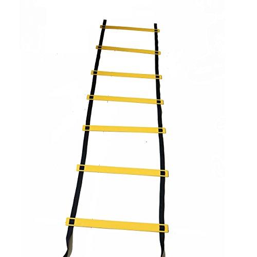 Wellsem Footwork agilità scaletta con scaletta bag, ad alta intensità Speed Ladder Best Football trapani Agility attrezzatura per agilità e più