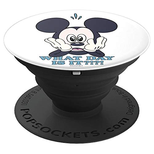 Disney Mickey Mouse What Day Is It? PopSockets Grip and Stand for Phones and Tablets
