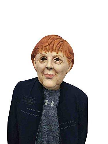 thematys Angela Merkel Masker - Perfect voor Carnaval & Halloween - Volwassen Kostuum - Latex, Unisex Vrouwen Mannen